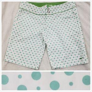 🆕O'Neill Polka Dot Board Shorts Teal Green Size 9